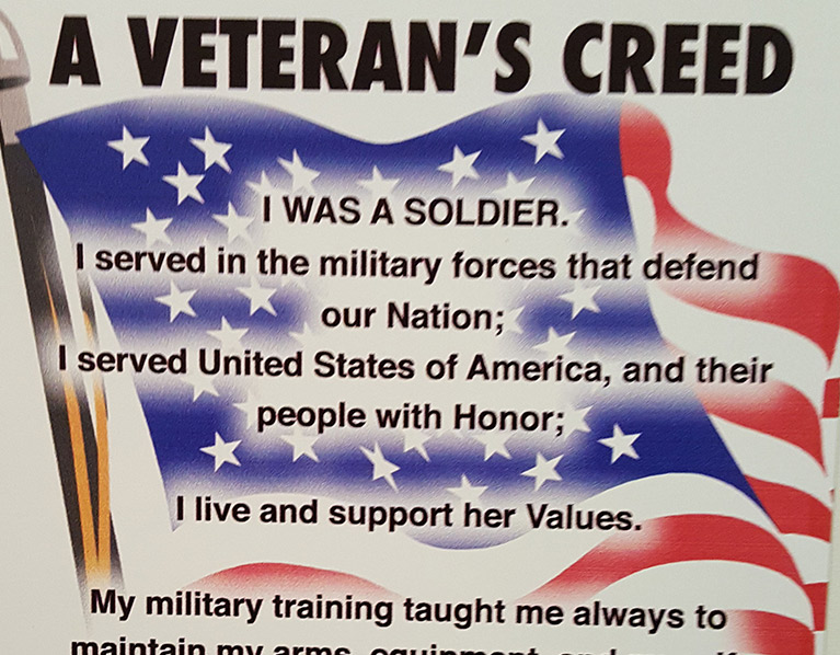 A Veteran's Creed
